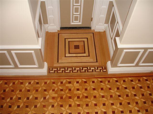 Hardwood Floor Inlays hardwood floor inlay Completed Project Finished Inlay Walnut And Quartersawn Red Oak