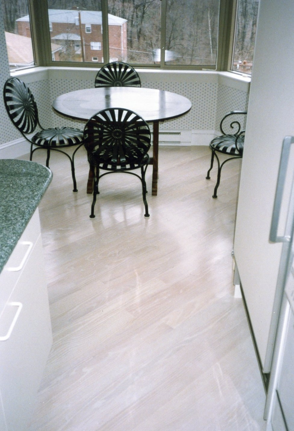 Pickled White hard Wood Floors | duffyfloors
