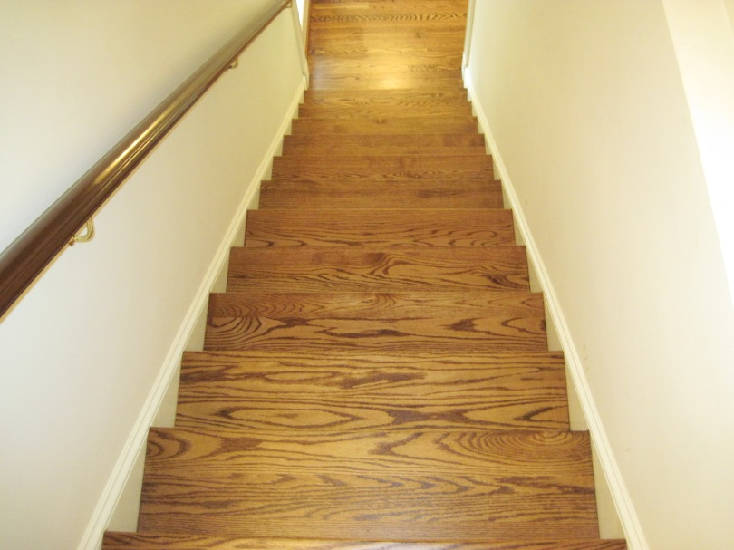 Stained Pine Stairs : red oak stain stair  duffyfloors